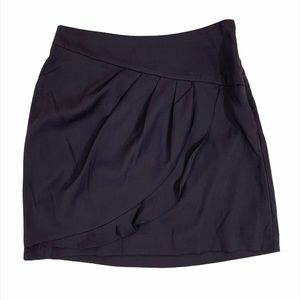 Banana Republic Gray Ruffle A-Line Mini Skirt 2